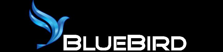 White BlueBird Logo